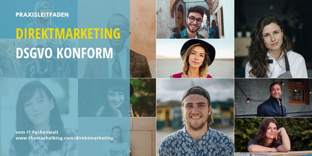 Direktmarketing DSGVO Konform Banner